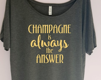 Champagne Shirt, Champagne is always shirt, Workout Shirt, Brunch So Hard, Gym Shirt, fitness shirt, workout tshirt, Boss Lady