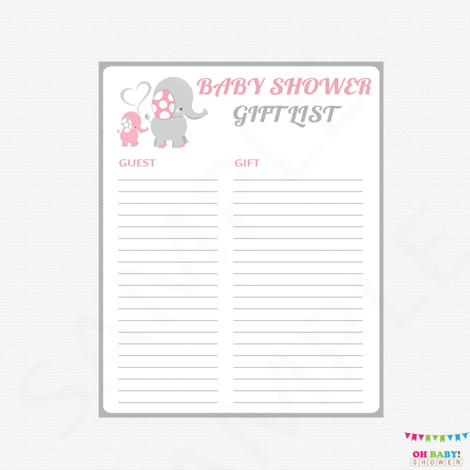 shower gift list  etsy, Baby shower