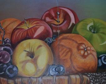 Still Life Fruits on basket