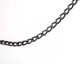 Black Chain Necklace, Mens Necklace, Mens Chain Necklace, Womens Chain Necklace, Mens Gifts, Mens Black Necklace, Mens Jewellery