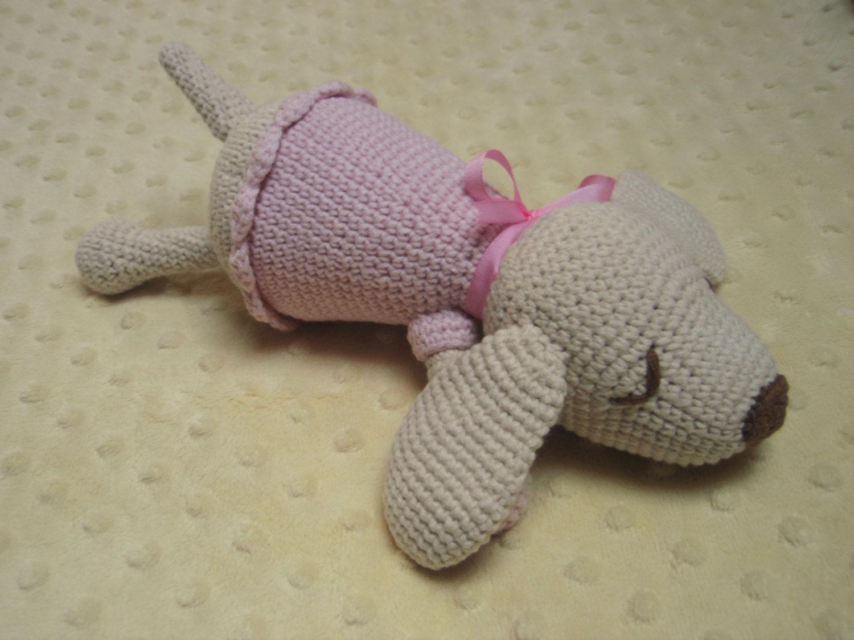 CROCHET PATTERN Sleeping puppy amigurumi pattern