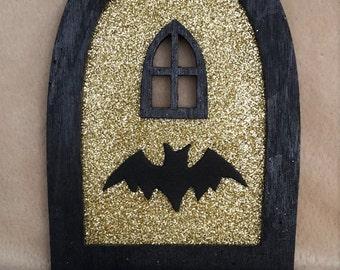 Superhero wall decal etsy for Batman fairy door