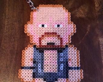 Stone Cold Steve Austin Pixel Art Mini Bead Keyring