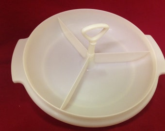 Vintage 1960's Tupperware Suzette Divided Relish Dish