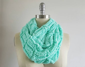 Mint Green Textured Scarf
