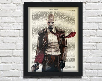 Agent 47, Hitman, printed on Vintage Paper - dictionary art print, book prints