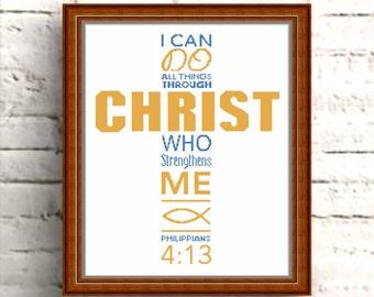 CROSS STITCH PATTERN Philippians