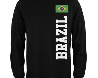 Old Glory - World Cup Brazil Men's Long Sleeve Black