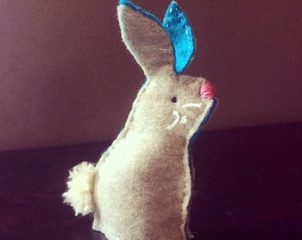 Felted Bunny Finger Puppet