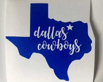 Dallas Cowboys Decal Etsy - Cowboy custom vinyl decals for trucks