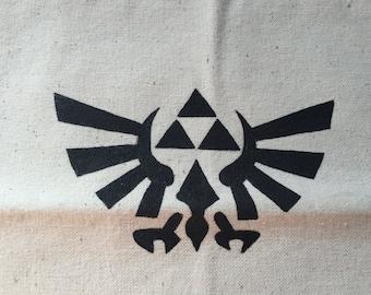 Legend of Zelda - Triforce - Hand Painted Canvas Tote Bag