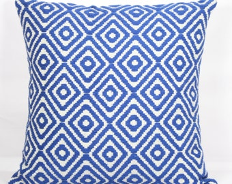 Blue pillow covers throw pillow covers 20x20 decorative boho pillow cases blue for bed 18x18 inch pillow 24x24 texture sofa cushion covers