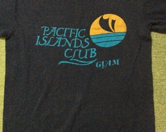 Vintage Hawaii Pacific Island Club Guam 80s L