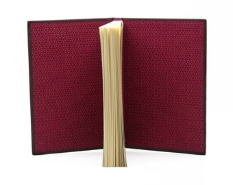 Small notebook plum leather