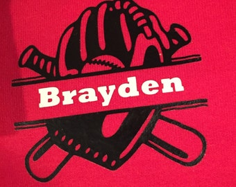 Personalized baseball/softball shirt with pocket style image