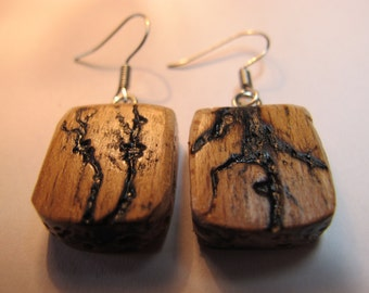 French home made earrings