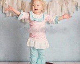 2pc ruffle colorful girl outfit