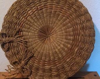 Native American Sweetgrass Sewing Basket