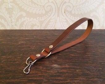 Leather Camera Wrist Strap Brown Vintage Look Film Camera Strap