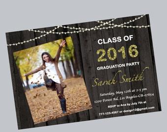 Graduation invitation, graduation party, graduation invite, grad invitation, high school graduation, college graduation, printable,digital