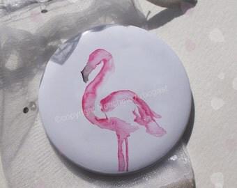 56mm - Flemish Pocket mirror pink
