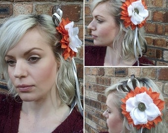 Power to the Flower hair clip