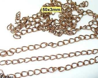 10 extension chain copper 5 cm (215)