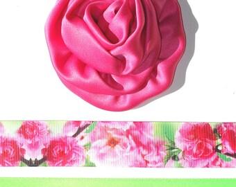 Inspiration Embellishment Kit Satin Rose Flower Grosgrain & Satin Ribbon Hats Hair Bows Home Decor