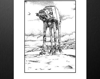 Star Wars AT-AT Print