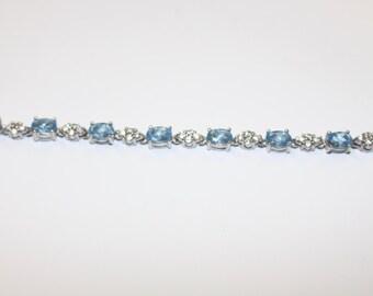 Aquamarine Semi Precious Stone Bracelet