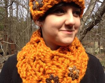 Orange Cowl and Headband