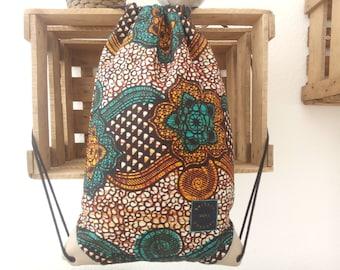 Flower patterned drawstring bag