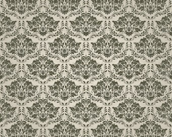 Retro Floral Damask Wallpaper