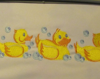 Machine Embroidery Duck Picture