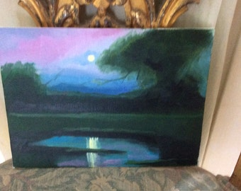 Beautiful Romantic Oil Painting, Small, Signed