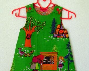 A line dress pinafore  Hansel & Gretel a lijn jurkje kleid size 1-2