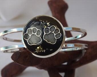 Puppy Paw Print Cuff Bracelet