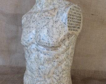 Half Mannequin - Male Torso - Decoupage Half Mannequin (stock#6241)