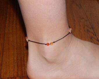 anklet carnelian