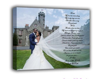 Any Song Lyrics Customized Anniversary Wedding Gift First Dance Vows Poetry