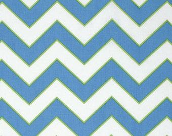 "Dena Designs  FreeSpirit ""Haute Girls"" Chevron Cotton Fabric in Blue"