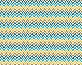 "Riley Blake   My Minds Eye   ""Indie Chic""  Multi Zig-Zag  Cotton Fabric  REMNANT"