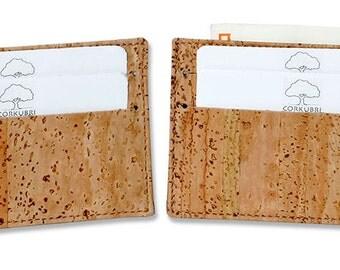 Natural Cork Carld Holder - Tarjetero de corcho natural