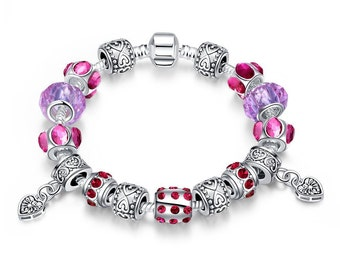 Purple Passion Pandora Inspired Bracelet
