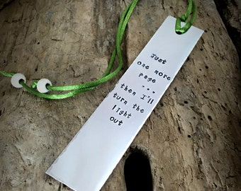 Personalised Message Bookmark, Stamped Bookmark, Gift Reader, Book Lover Gift