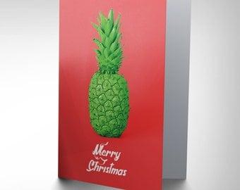 Christmas Card - Pineapple Weird Xmas Greeting Merry Christmas Funny CP2108