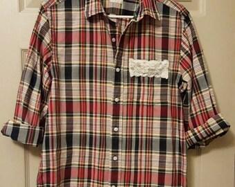 Upscaled plaid shirt