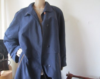 Vintage 80s trench coat Hensel & Mortensen Berlin oversize