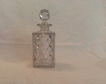 Cut glass perfume bottle