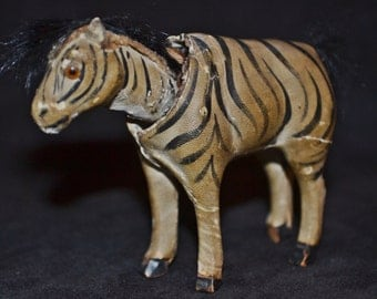 Vintage, Antique Nodder Head Zebra